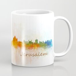 Jerusalem City Skyline Hq v3 Coffee Mug