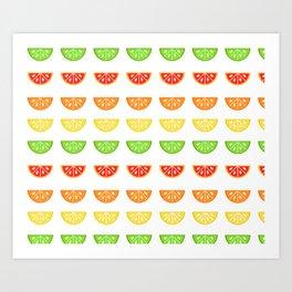 Citrus Pattern Art Print