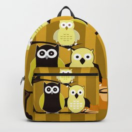 Yellow Owls Backpack