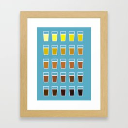 The Colors of Beer Framed Art Print