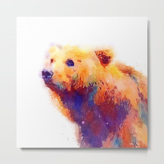 The Protective - Bear Metal Print