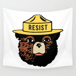 SMOKEY THE BEAR SAYS RESIST Wall Tapestry