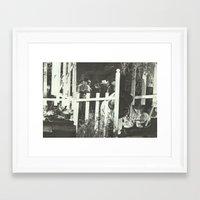 lynch Framed Art Prints featuring Lynch Mobs by Nicholas Lockyer