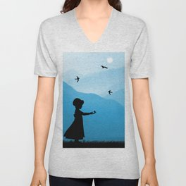 Feed The Birds Unisex V-Neck