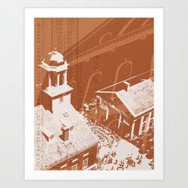 Quincy Market Art Print