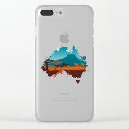 Kangaroo Clear iPhone Case