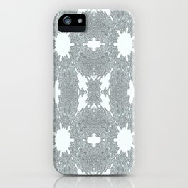 Blue Ice Crystals iPhone Case