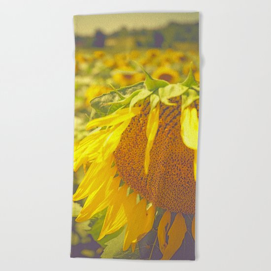 Summer Field Beach Towel