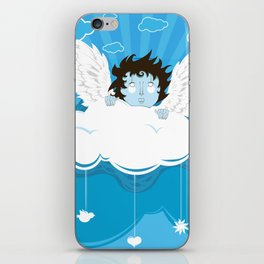 huh? what?! can't hear you ... too windy up here! iPhone Skin