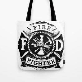 Fire Fighter Badge Tote Bag