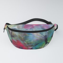 Floral Butterfly Burst Fanny Pack