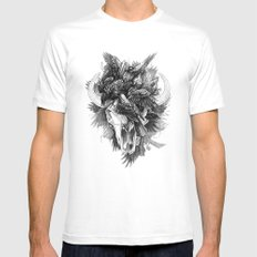 Cycle MEDIUM White Mens Fitted Tee