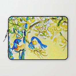 Yellow Bluebirds Sittin in a Tree, K I S S I N G by CheyAnne Sexton Laptop Sleeve