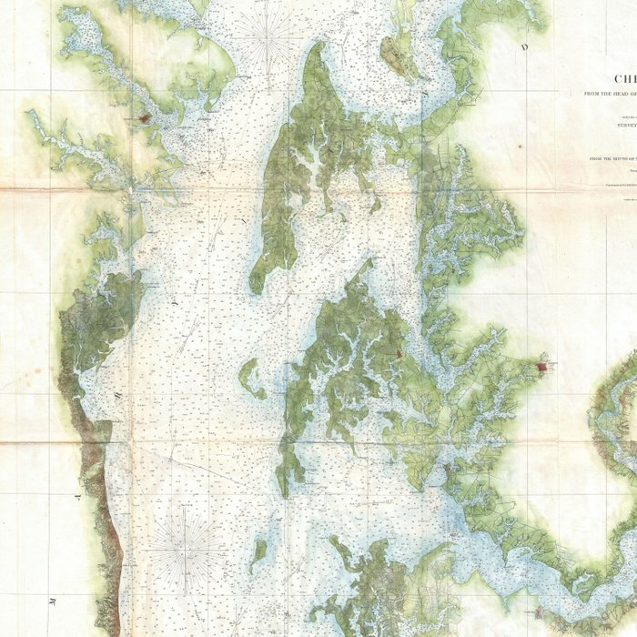 Vintage Map of The Chesapeake Bay (1857) Comforters