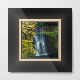 Lower South Falls East View, Silver Falls Oregon Series 1 of 2 Metal Print