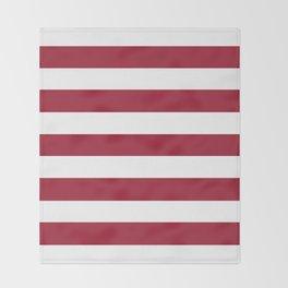 University of Alabama Crimson - solid color - white stripes pattern Throw Blanket