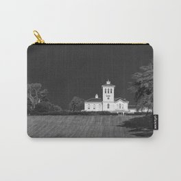 Black and white image of a homestead in Auckland New Zealand Carry-All Pouch
