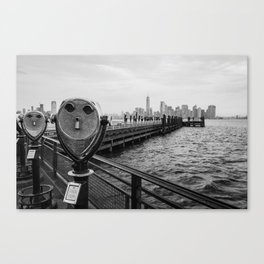 View from Liberty Island - New York Canvas Print