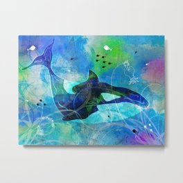 The Orca Metal Print