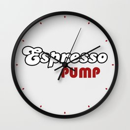 Espresso Pump Wall Clock