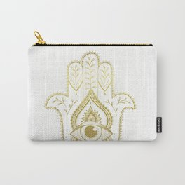 Hamsa Hand - Gold Carry-All Pouch