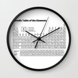 Periodic Table of the Elements Wall Clock