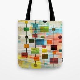 Mid-Century Modern Art 1.3 -  Graffiti Style Tote Bag