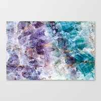 crystals Canvas Prints featuring crystals  by lokyic