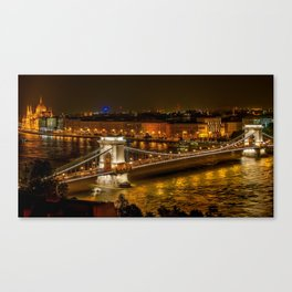 Budapest | Szechenyi Chain Bridge Canvas Print