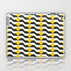 Tricolor Steps Yellow Black & White Laptop & iPad Skin