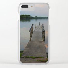Seneca Lake Pier at Dusk Clear iPhone Case