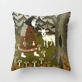 Galiena's goat Throw Pillow