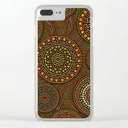 Dot Art Circles Aboriginal Art #1 Clear iPhone Case