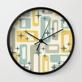 Mid Century Modern Geometric Abstract 132 Wall Clock
