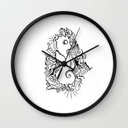 Seahorse Lineart Wall Clock