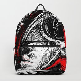 The Red tears  Prints Backpack