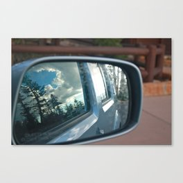 Adventures in the Rear View Mirror Canvas Print