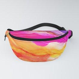 Pocket of Sunshine - fluid art, red orange yellow purple, vibrant fun, playroom Fanny Pack