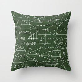 Geek math pattern Throw Pillow