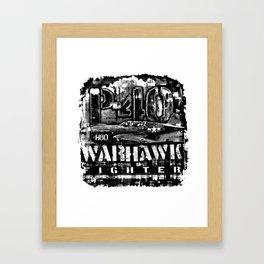 P-40 Warhawk Framed Art Print