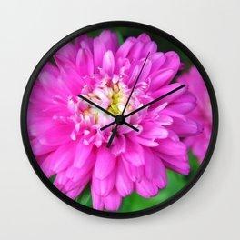 Zinnia Flower Wall Clock