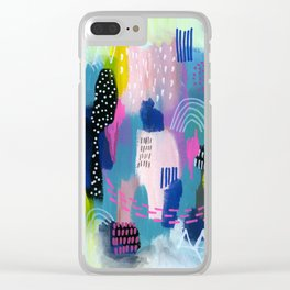 Dreamscape Clear iPhone Case