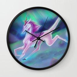Kirin of the Aurora  Wall Clock