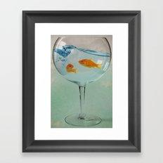 Goldfish glass Framed Art Print