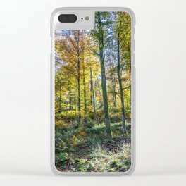 Colorful French forest Clear iPhone Case