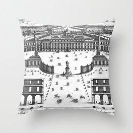 Veüe du Palais de Monsieur l'Electeur Palatin pour batir a Manheim du dessein du Sr. Marot 1670 Throw Pillow