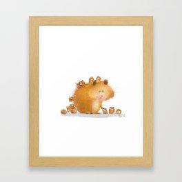 hamster family Framed Art Print