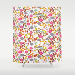 Toadstools and mushro Shower Curtain