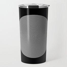 Hypnotic Circles optical illusion Travel Mug