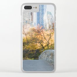 Central Park as the City Wakes Up Clear iPhone Case